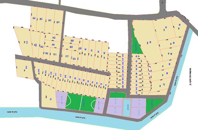 Mặt bằng phân lô dự án Khu dân cư Happy Garden Hồ Tràm Xuyên Mộc Bà Rịa Vũng Tàu